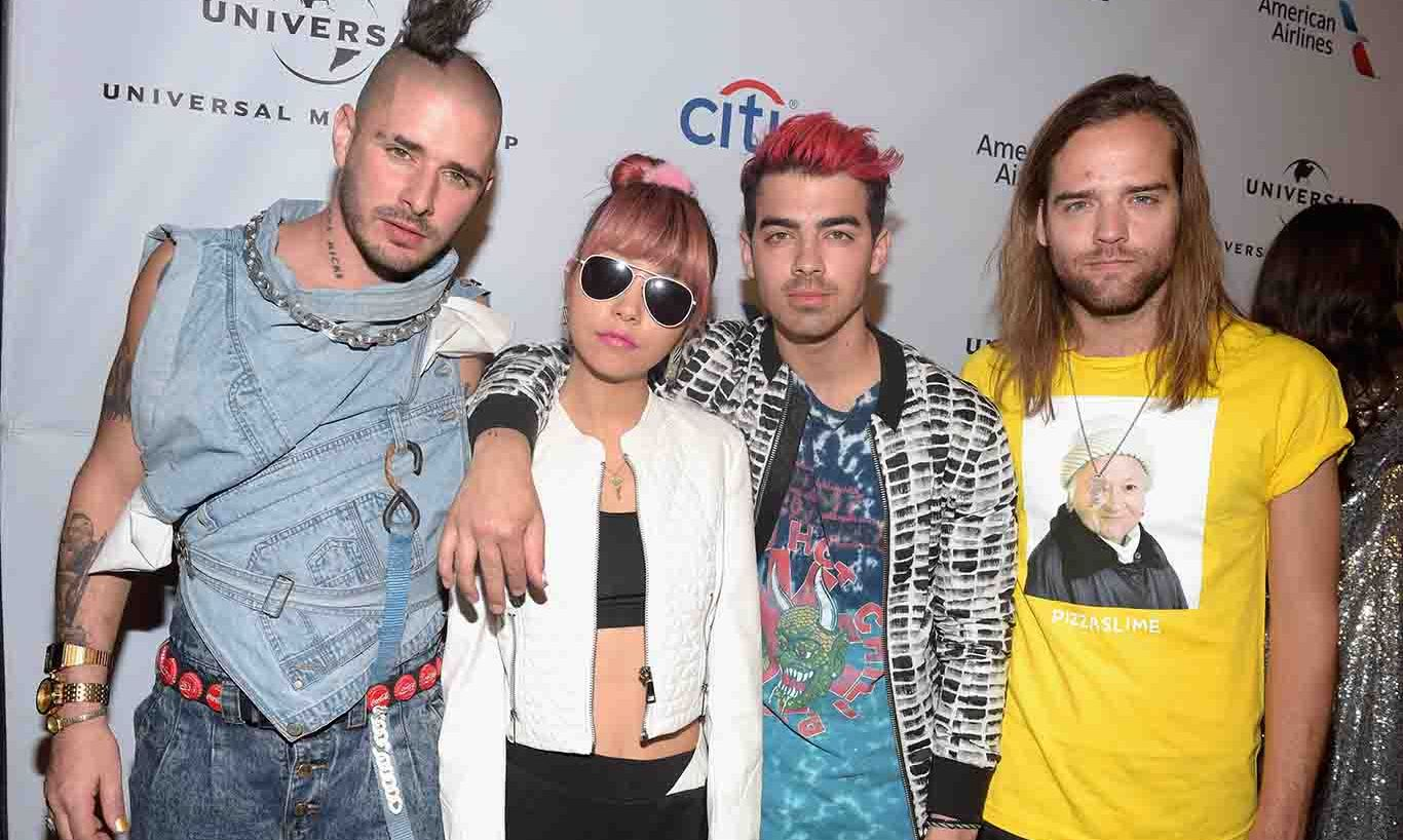 DNCE attended the Universal Music Group's 2016 Grammy after party presented by American Airlines and Citi.