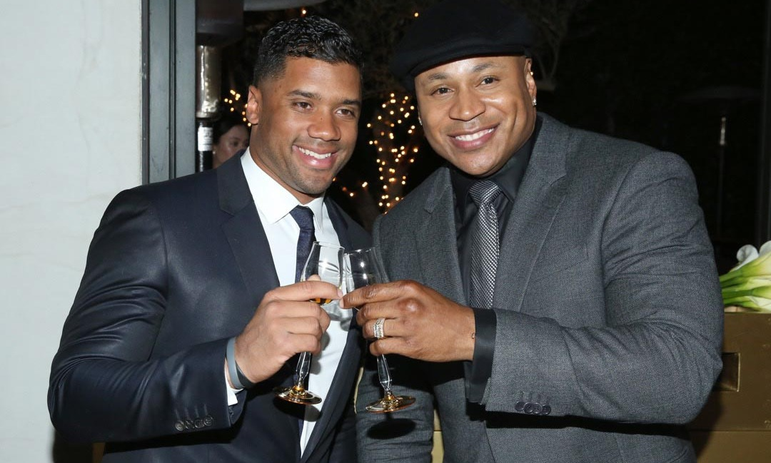 Russell Wilson and LL Cool J toasted during the Hennessy V.S.O.P Privilege pre-GRAMMY dinner at Ysabel.