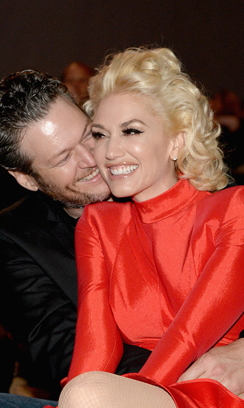 Blake Shelton and Gwen Stefani packed on the PDA during the 2016 Pre-GRAMMY Gala and Salute to Industry Icons honoring Irving Azoff at The Beverly Hilton Hotel in Beverly Hills. 