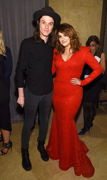 James Bay and Meghan Trainor found time for a quick photo backstage during the the 2016 Pre-GRAMMY Gala and Salute to Industry Icons honoring Irving Azoff at The Beverly Hilton Hotel.
