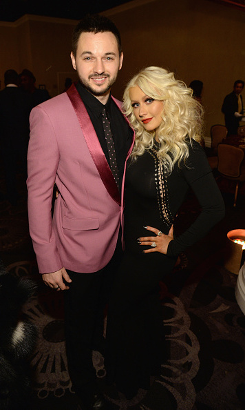 Christina Aguilera looked dazzling in Kylie Cosmetics while posing with her leading man, Matthew Rutler during the 2016 Pre-GRAMMY Gala and Salute to Industry Icons honoring Irving Azoff at The Beverly Hilton Hotel.