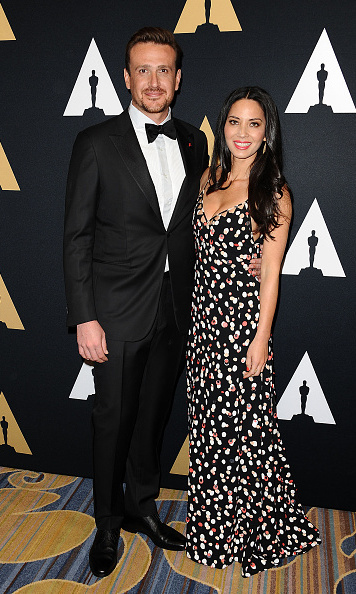 February 13: Suited up! Jason Segel and Olivia Munn attended the Academy of Motion Picture Arts and Sciences' Scientific and Technical Awards ceremony at the Beverly Wilshire Four Seasons Hotel in Beverly Hills.