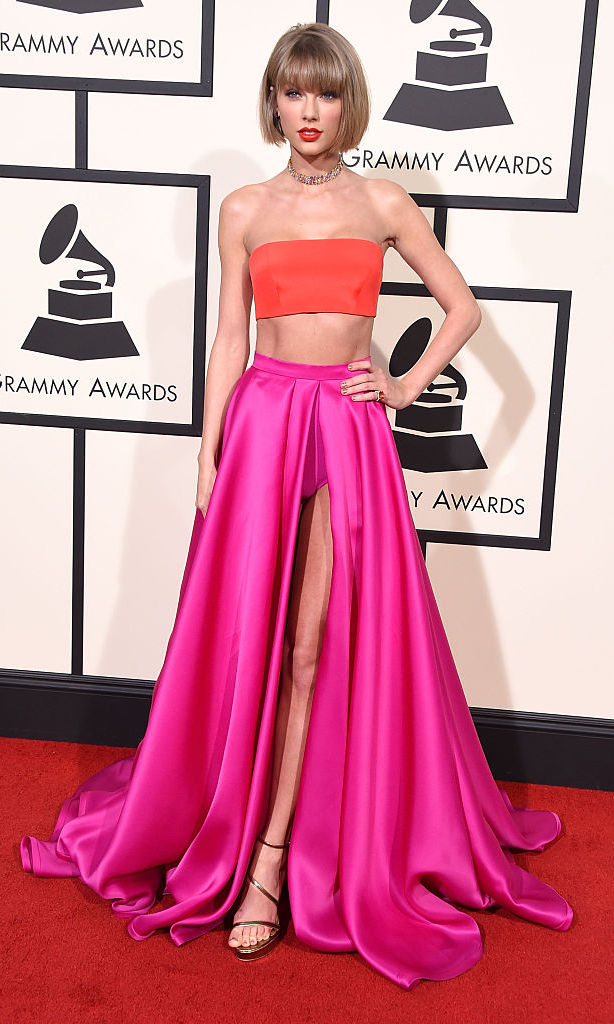 Pink and orange gowns: Stars who have worn Taylor Swift\'s GRAMMY ...