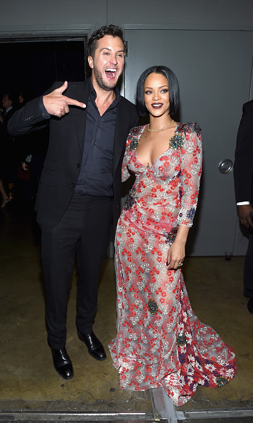 Luke Bryan couldn't believe Rihanna was right next to him at the MusiCares event.