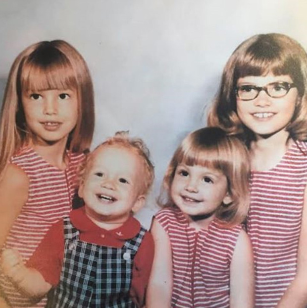 Cindy (pictured far left) was born into a hardworking Midwestern family in DeKalb, Illinois, the second of four children. Her mother worked in a doctor's office, while her father was a machinist and electrician.