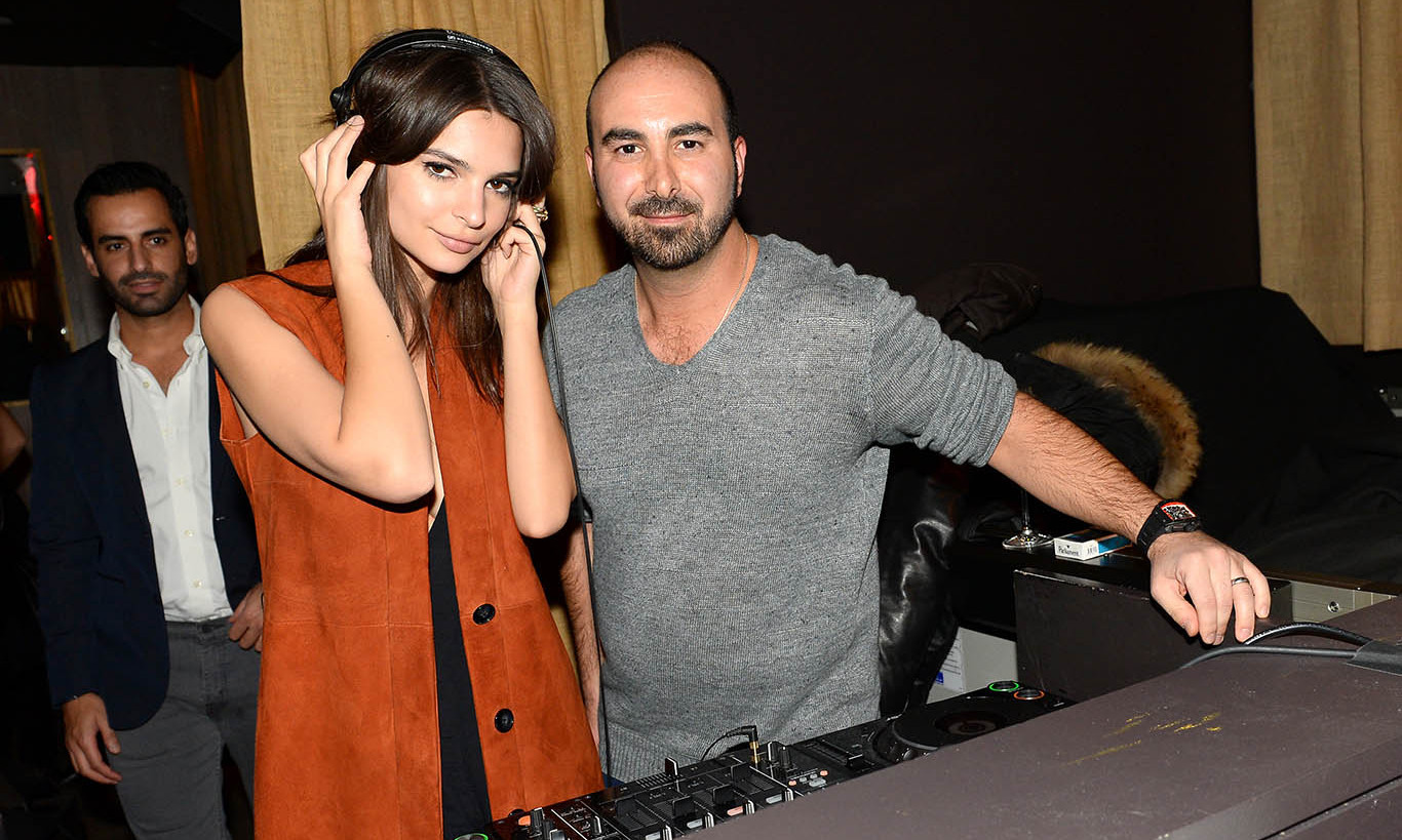 February 18: Turn up the music! Emily Ratajkowski got a quick DJ lesson from Alex Sapir at Baran Süzer's fashion week event at the NoMo Soho celebrating the Süzer Group's US Expansion in NYC. 