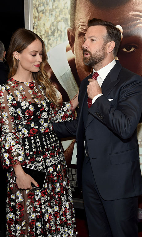 February 17: Olivia Wilde checked out her leading man Jason Sudeikis at the 'Race' screening in NYC.