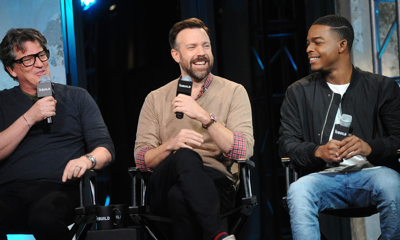February 16: Director Stephen Hopkins, Jason Sudeikis and Stephan James talked about their new film 'Race' with AOL Build in NYC.