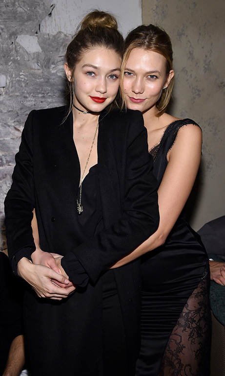 February 15: Girl time! Gigi Hadid and BFF Karlie Kloss spent some quality girl time during the IMG models celebrates The Sports Illustrated Swimsuit issue at Vandal in NYC.