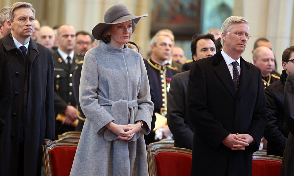 Queen Mathilde of Belgium and King Philippe of Belgium attended a mass at Notre Dame Church in Laeken, Belgium. 