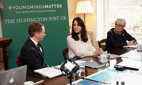 Creating a newsroom at Kensington Palace, Duchess Kate promoted the #youngmindsmatter campaign as she became editor-for-a-day at the Huffington Post UK.