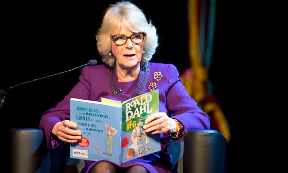 Once upon a time... The Duchess of Cornwall read to kids during a preview of the new 'Wondercrump World of Roald Dahl' exhibition at the Southbank Centre in London. 