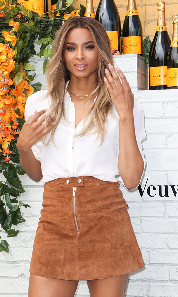 February 20: Ciara was cool in suede during Veuve Clicquot's Carnaval at Museum Park in Miami. 