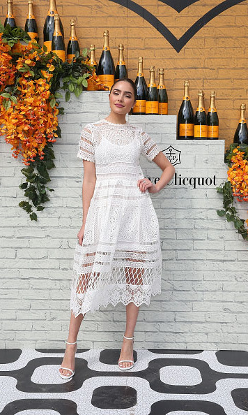 February 20: White hot! Olivia Culpo looked stunning during the Veuve Clicquot Carnaval in Miami. 