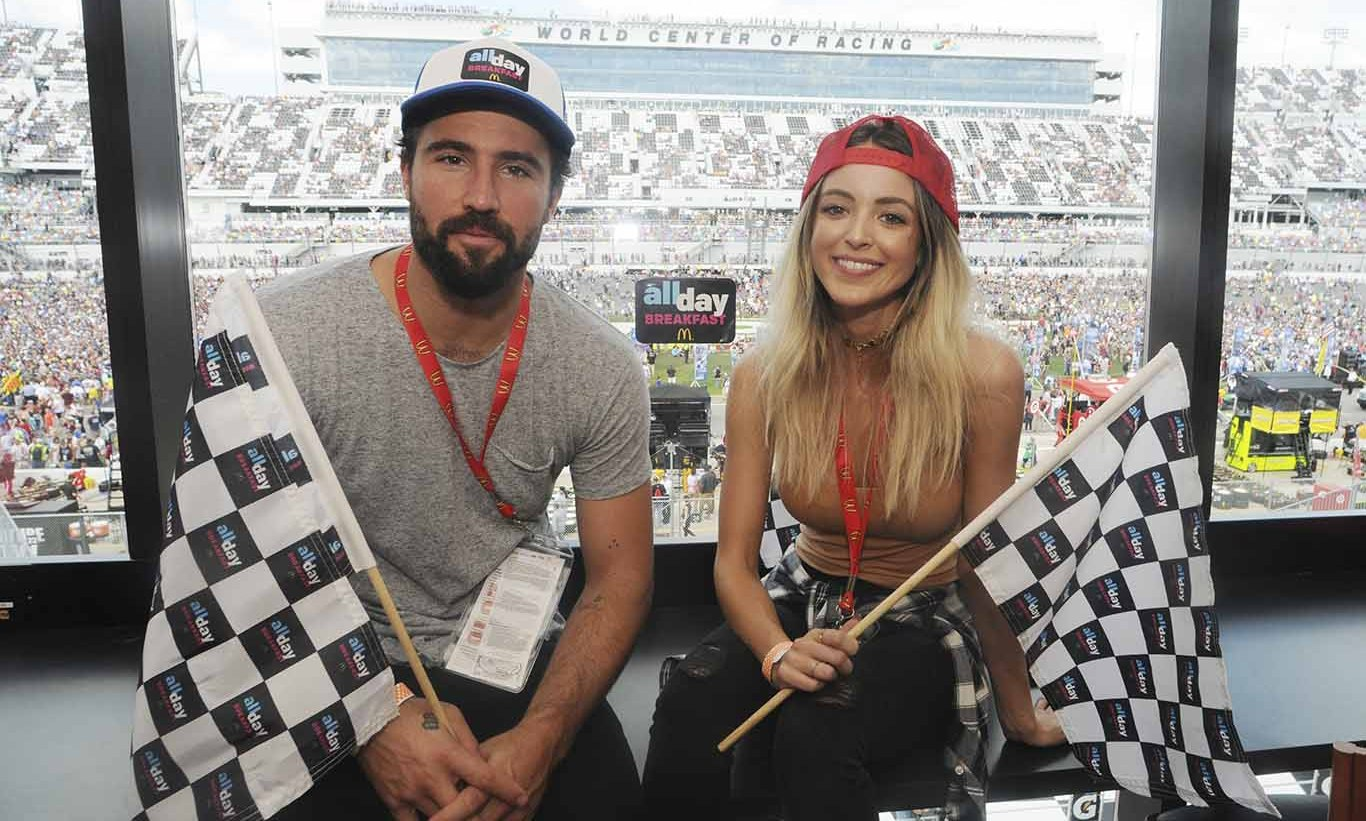 February 21: Racing in love! Brody Jenner and girlfriend Kaitlynn Carter watched the Daytona 500 in style in the McDonald's All Day Breakfast Lounge in Daytona Beach. 