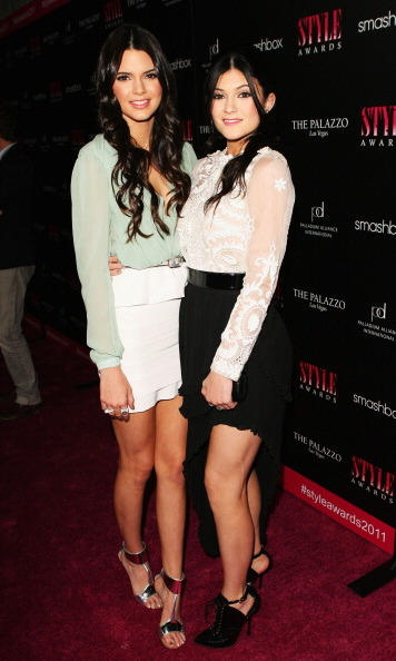 The two attended the 2011 Style Awards. Kendall wore a pastel green top while Kylie opted for a more dramatic look with her asymmetric black skirt.
