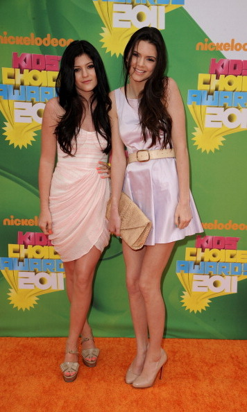Kendall and Kylie looked adorable in these light pastel-hued dresses for the 24th Kids' Choice Awards in 2011. 