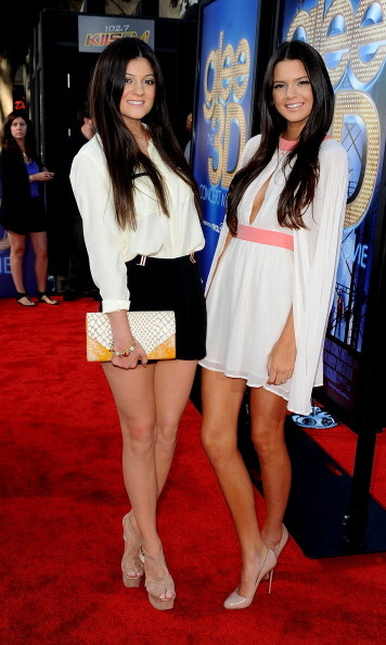 Kylie went for shorts while Kendall stunned in a caped dress at the 2011 <i>Glee 3D Concert</i> movie premiere, where they were hosts. 