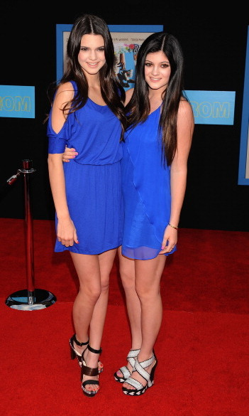 The sisters dressed in matching shades of blue for the 2011 <i>Prom</i> movie premiere.
