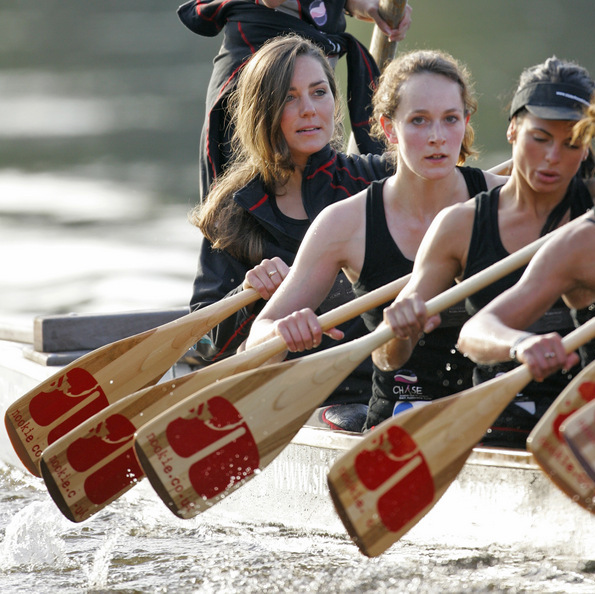 Row, row, row the boat is exactly what the Duchess did in 2007 during a training session with the Sisterhood rowing team, which she joined during her brief split from Prince William.