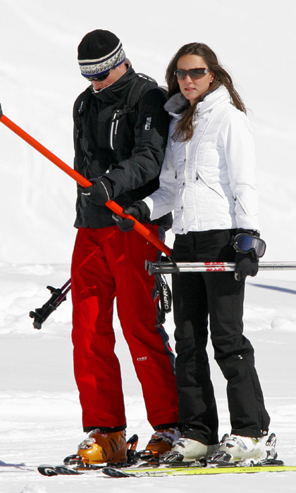 A few years before tying the knot, avid skiers Prince William and Kate were spotting hitting the slopes in Klosters, Switzerland (2008).