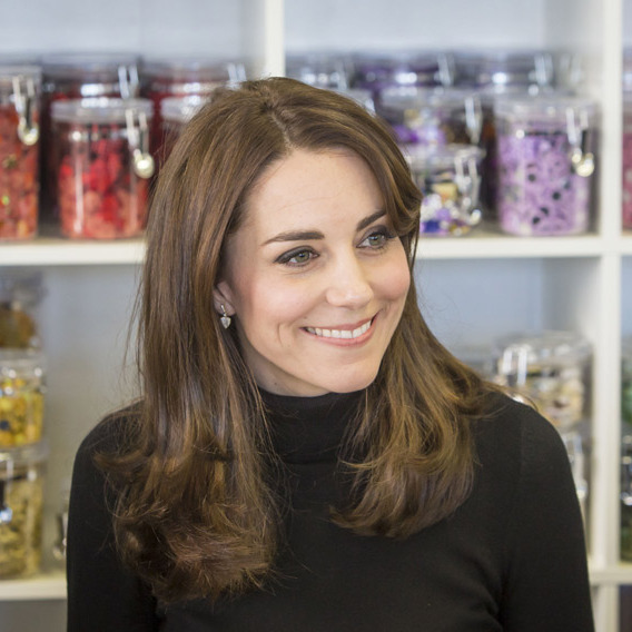 Following her trip to the school, Kate then visited the Wester Hailes Education Centre, where another of her charities, the Art Room, has its first studio in Scotland.