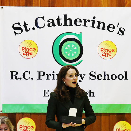 Kate attended the school's early morning assembly and quickly introduced herself to the children, who were eager to meet Prince George and Princess Charlotte's mom.