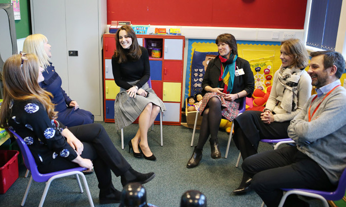 Inside the school, The Countess of Strathearn, as she is known in Scotland, met with students, families, teachers and school staff, who are helped by, or work with the children's mental health charity Place2Be.