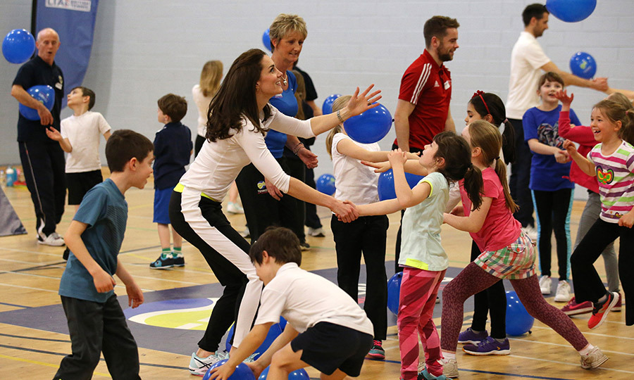 Kate joined in with a series of skills and drills designed for the children to improve their reaction times and coordination.