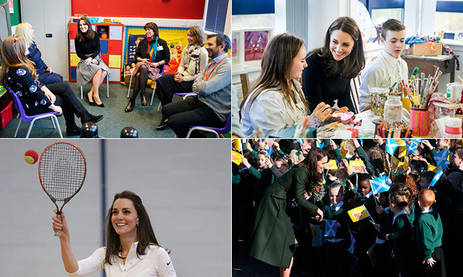 On Wednesday, Kate Middleton traveled to Edinburgh to partake in three official engagements.