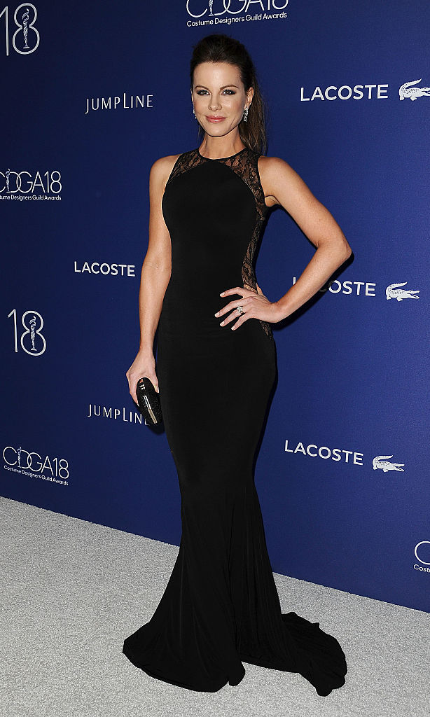 February 23: Kate Beckinsale stunned in a black Hamel gown at the18th Costume Designer Guild Awards with presenting sponsor LACOSTE in Beverly Hills.