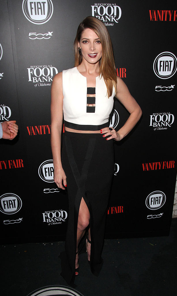 February 23: Ashley Greene was party-ready rocking a Jack Vartanian ring and earrings to the  Vanity Fair and FIAT Young Hollywood Celebration at Chateau Marmont.