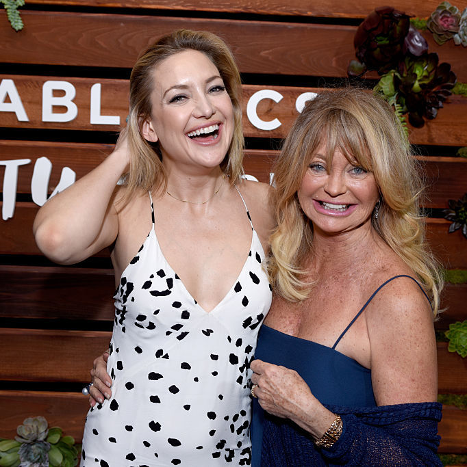 "February 23: This mother-daughter duo, Kate Hudson and Goldie Hawn, looked ""pretty happy"" celebrating the release of the 'Kung Fu Panda 3' actress's new book 'Pretty Happy: Healthy Ways to Love Your Body' in L.A. 
