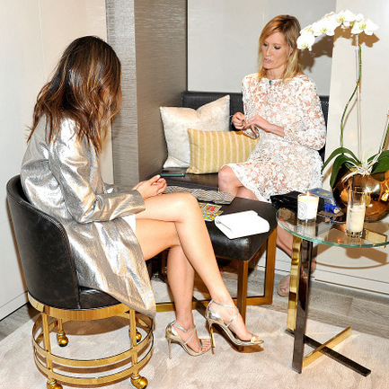 February 23: Actress Jamie Chung had her tarot cards read by Angie Banicki at InStyle And Jimmy Choo's Girls Night in L.A.