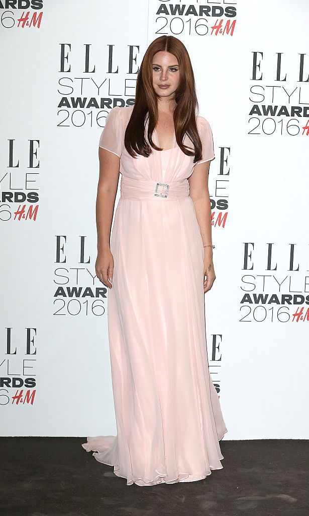February 23: Singer Lana Del Rey was a vision in pink at the 2016 Elle Style Awards in London.