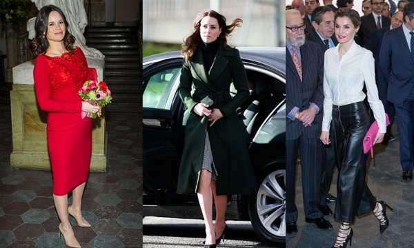 From Kate Middleton's Scottish wardrobe to Queen Letizia's leather statement pants, see all the best royal looks of the week.