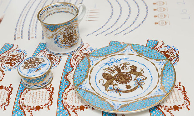 Here is a glance at the Queen-approved china set. Photo Royal Collection Trust & Queen Elizabeth releases china set to mark her 90th birthday