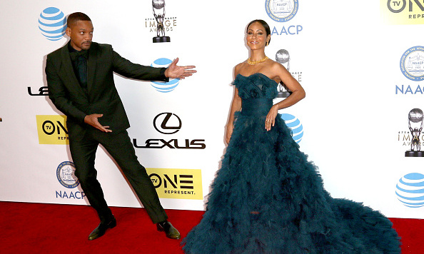 Will Smith and Jada Pinkett Smith are adorable. We love that he's clearly awestruck by her beauty. 