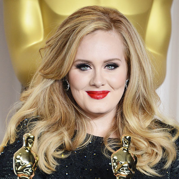 "The mom-of-one let her hair down (literally) to attend the 85th Academy Awards in 2013. The singer opted for bold makeup for the film awards show. ""When I'm working, I go for very dramatic makeup,"" Adele told InStyle. ""I love contouring – Boy George style – with lots of blush on my cheeks.""