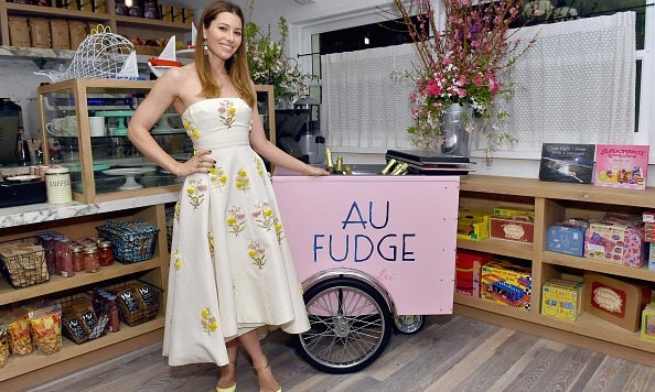 March 1: Jessica Biel posed for the opening of her new  family-friendly eatery Au Fudge in L.A. 