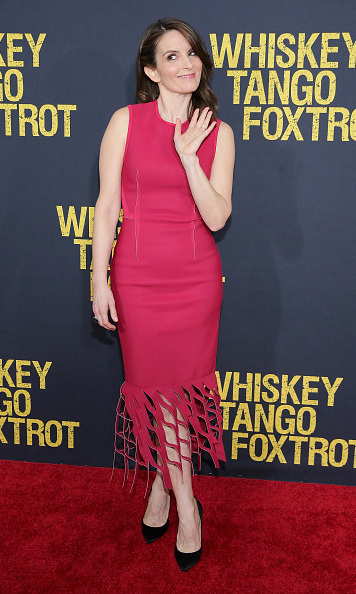 March 1: Hello! Tina Fey was playful on the carpet for her new film <i>Whiskey, Tango, Foxtrot</i> in NYC. 