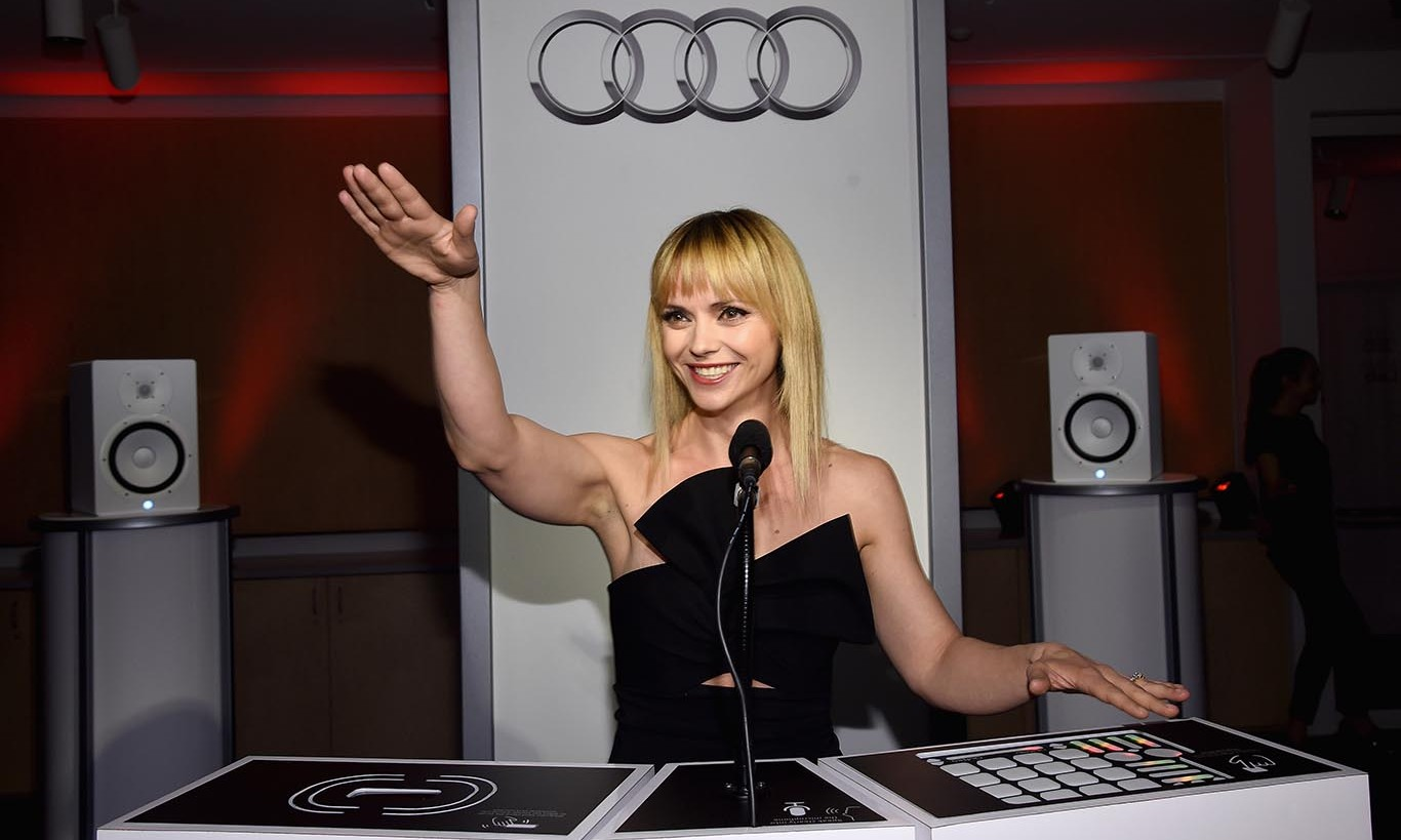 March 2: Go DJ! Christina Ricci rocked a black Cushnie Et Ochs dress and Paul Andrew heels as she turned it up in the DJ booth at the Sound Lab presented by Audi party at the Whitney Museum of Art in NYC. 