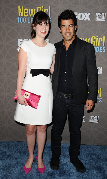 March 2: The New Parents! Zooey Deschanel and husband Jacob Pechenik posed during the 100th episode celebration of <i>New Girl</i>. 