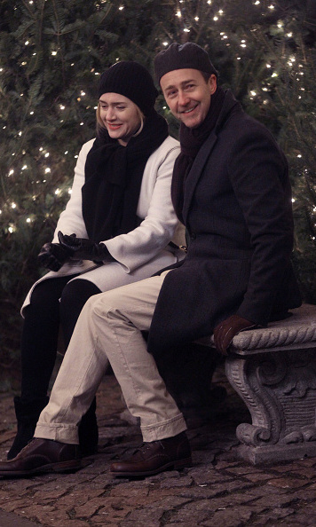 March 3: Quiet on the set! Edward Norton and Kate Winslet  were all smiles while filming <i>Collateral Beauty</i> in NYC.