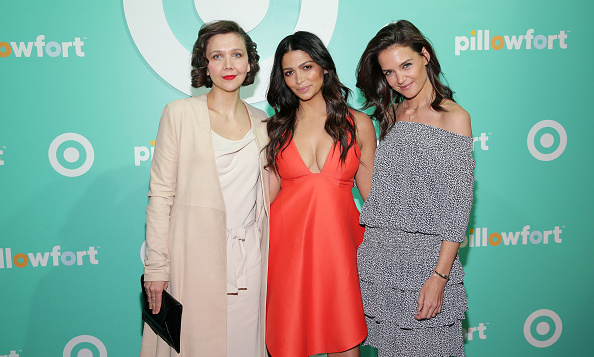 March 3: Maggie Gyllenhaal, Camila Alves and Katie Holmes stopped by the Target Pillowfort Launch Party at Highline Stages in NYC.