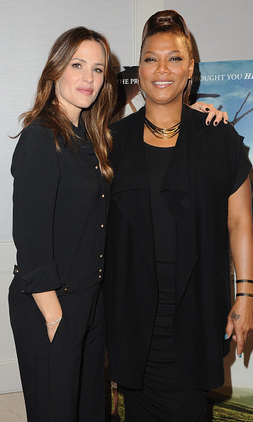 Heavenly co-stars! Jennifer Garner and Queen Latifah promoted their new movie <i>Miracles from Heaven</i> in L.A.