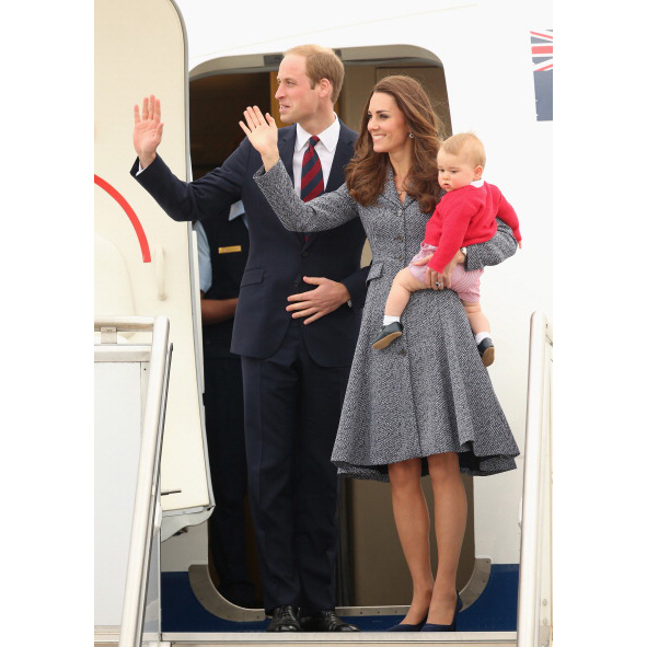 April 2014: The family gets set to head back to the UK from Down Under.