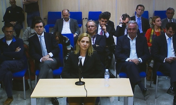 A somber Princess Cristina of Spain took to the stand during her tax fraud trial in Majorca.