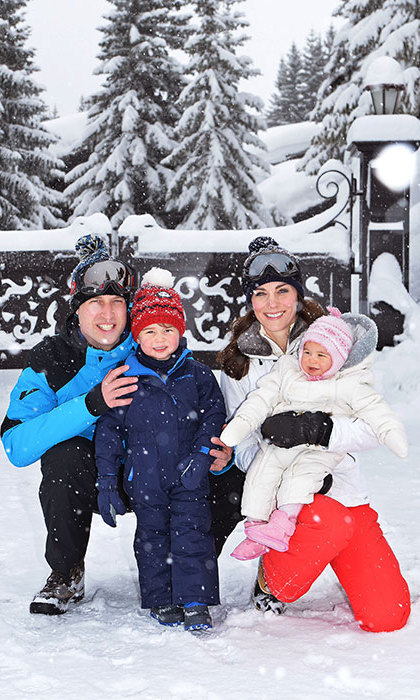 The Cambridges headed to the French alps in March 2016 when Charlotte was ten months old for their first holiday as a family of four. 