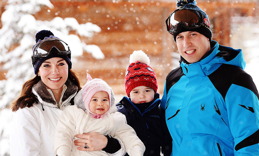 February 2016: The family went to the French alps for a long weekend and the mini vacation was George's first time playing in the snow.